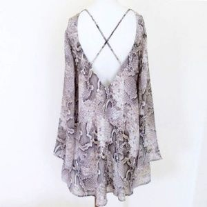 Show Me Your MuMu Dresses - NWT: SMYM JONI FLOW SNAKE N' SHAKE MINI DRESS